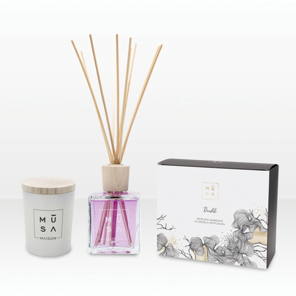 DOUBLE  DOUBLE Room Perfume 250ml & Scented Candle 170gr